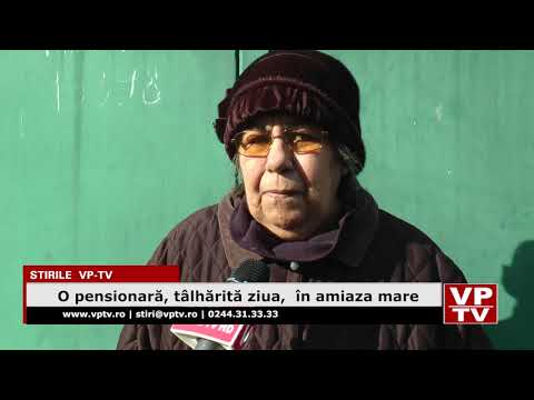 O pensionară, tâlhărită ziua,  în amiaza mare