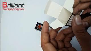 10ml Bottle Box - Printed E-Liquid Packaging Box - Small Bottle Boxes