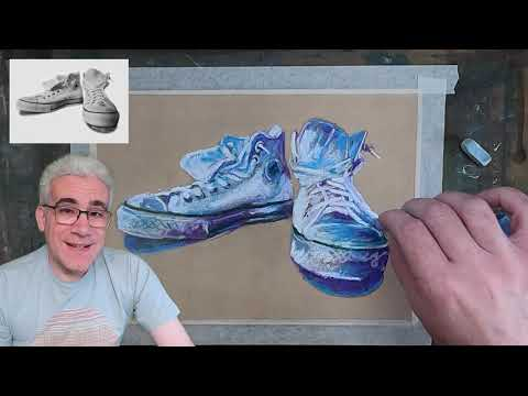 Thumbnail of Beginner Pastels - Easy steps to paint a pair of Converse trainers