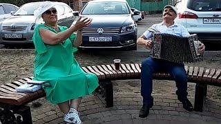 Напилася я пьяна 🍁  Гармонь на бульваре ☀️ 😊  Экспромт╰❥ Russian folk song!