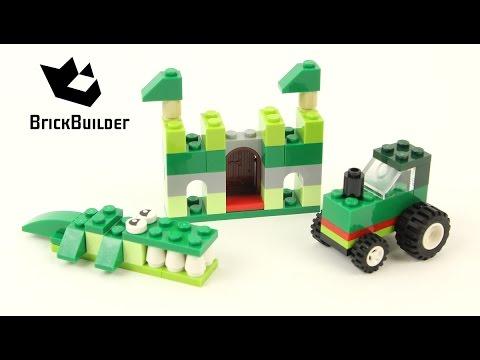 Vidéo LEGO Classic 10708 : Boîte de construction verte