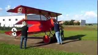 aviao triplano, fokker DR-1 barao vermelho em leme