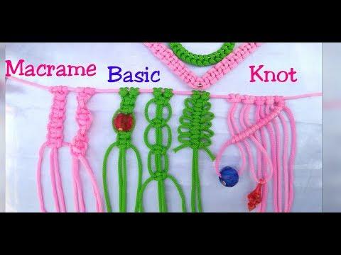 Basic Macrame Knot for Beginners Tutorial
