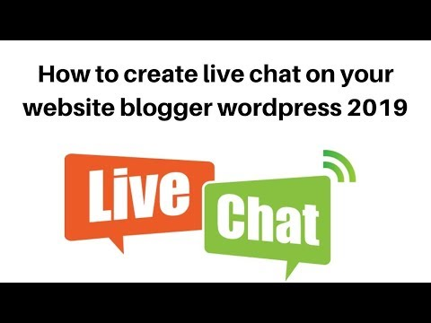 How to create live chat on your website  blogger  wordpress
