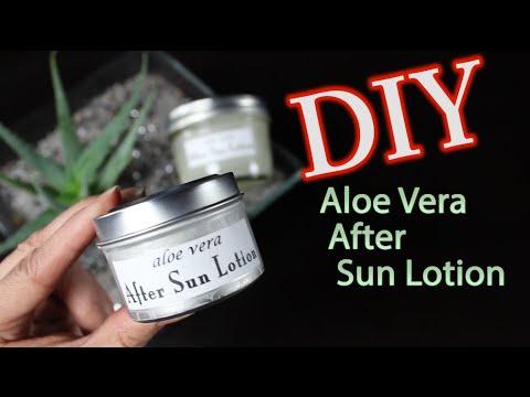 DIY Aloe Vera After Sun Lotion