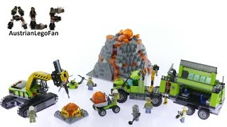 Lego City 60124 Volcano Exploration Base - Lego Speed Build Review
