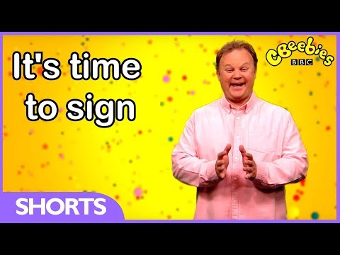 Screenshot of video: CBeebies- Learn how to sign