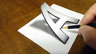 How To Draw 3d Letter P Drawing With Pencil म फ त