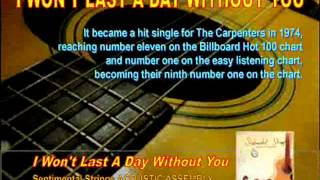 I Won't Last A Day Without You - Sentimental Strings.wmv