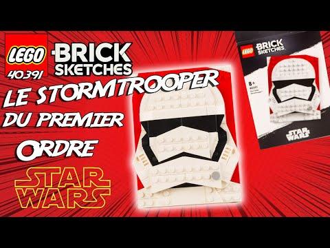 Vidéo LEGO Brick Sketches 40391 : Stormtrooper du Premier Ordre (Star Wars)