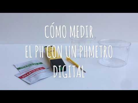 Como Medir el pH con un pHmetro digital