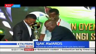 Masoud Juma wins best defender award at the SJAK awards