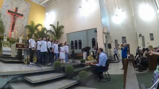 Apresentação do Coral Infanto Juvenil (08 a 15 anos) na festa de Nossa Senhora da Salette (19 Set 20
