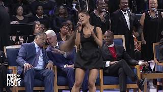 """WATCH: Ariana Grande performs """"A Natural Woman"""" at Aretha Franklin's 'Celebration of Life' ceremony"""