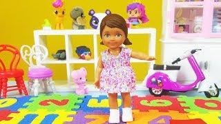 Barbie ve Ailesi Bölüm 147 - Melis Okula Başlıyor - Çizgi film tadında Barbie Oyunları