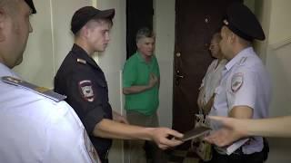 Вскрытие замка в присутствии полиции - квартирный скандал!