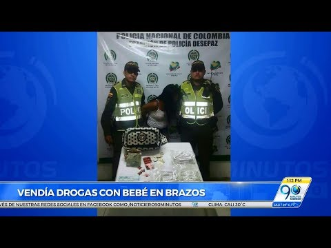 Capturan a mujer que consumía y vendía droga con su bebé de tres años en los brazos