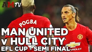 Manchester United V Hull City  EFL Cup  Semi Final  1st Leg