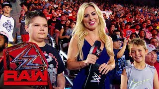 Sarah Schreiber tests Sam and Ben's WWE knowledge: Raw Exclusive, July 29, 2019