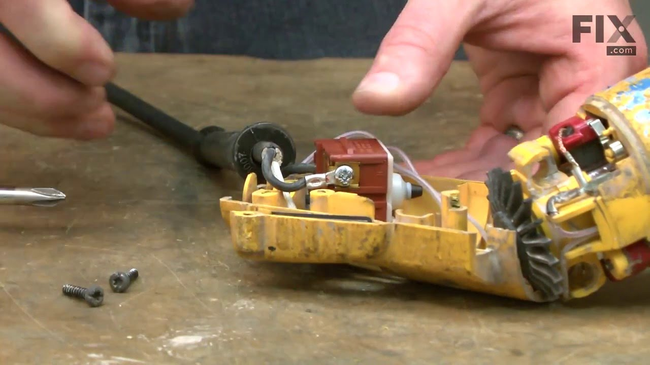 Replacing your DeWALT Electric Drill Power Cord