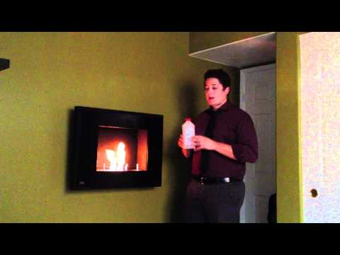 Napoleon Wall Mount Ethanol Slim Profile Burning Fireplace Review Tutorial WMFE2K Black Vent Free