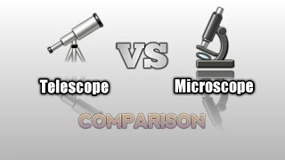Telescope VS Microscope comparison