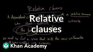 Relative clauses | Syntax | Khan Academy