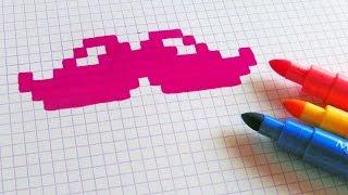 Handmade Pixel Art - How To Draw  #pixelart