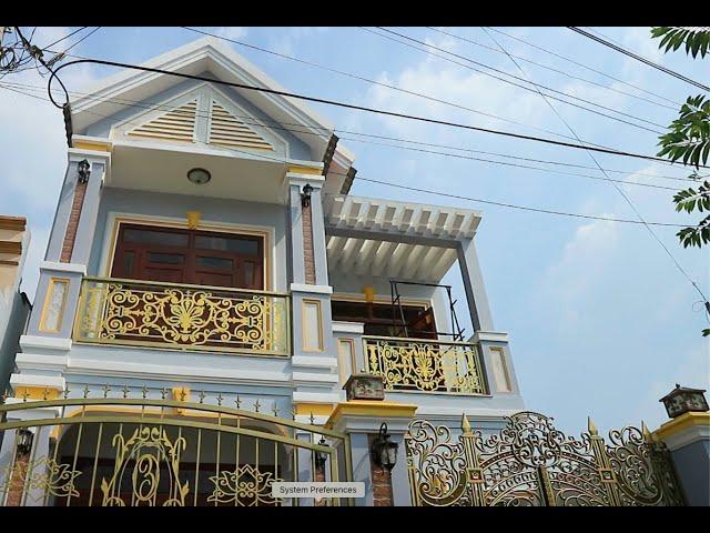 Thi công thiết kế nhà hai tầng mái Thái – chú Đông, Hoc Môn