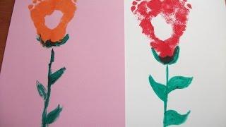 Footprint Craft-Great Gift Idea.DIY Craft Idea