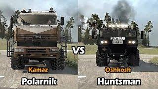 Spintires Mudrunner Oshkosh Huntsman vs Kamaz Polarnik
