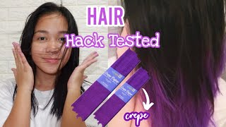 DIY HAIR DYE Using Crepe Paper | Javen B.