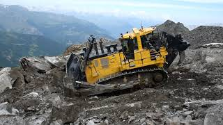 Komatsu D375A-8 Working In French Alps