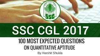 100 Important MCQs on Quantitative Aptitude for SSC CGL By Harshit Shukla