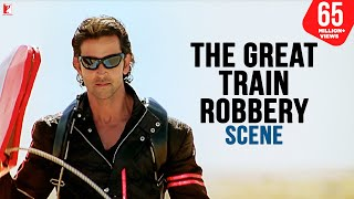 The Great Train Robbery Scene | Dhoom:2 | Hrithik Roshan | Dhoom Robbery Scene, Best Bollywood Scene