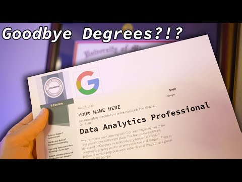 Become a DATA ANALYST with NO degree?!? The Google Data Analytics Professional Certificate