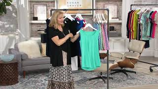 Susan Graver Modern Essentials Liquid Knit Tunic Tank on QVC