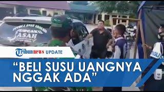 VIRAL Video Tak Punya Uang Ayah Serahkan 2 Anaknya ke Petugas PSBB: Mau Beli Susu Duitnya Gak Ada