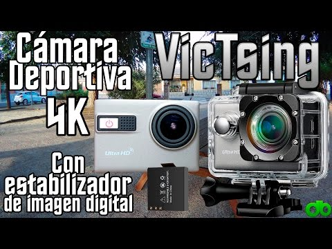 Cámara Deportiva 4K VicTsing, estabilizador Digital, WIFI, Sumergible, Sensor Sony (Review)