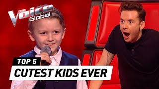 CUTEST 😍 Blind Auditions worldwide in The Voice Kids [PART 3]
