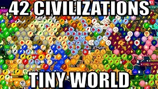 All 42 Nations Battle On A Giant World Map Civ 6 Gathering Storm