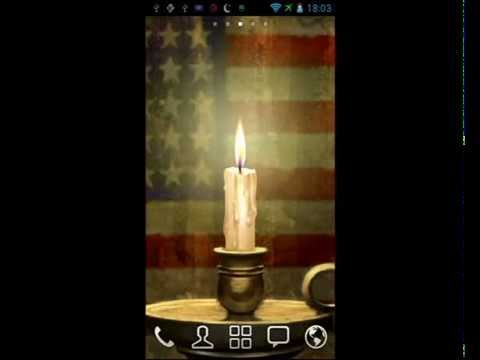 Video of xmas Candle Battery Status LWP