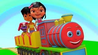 Chuk Chuk Rail Chali | Hindi Nursery Rhymes | Hindi Baby Song | Kids Channel India | Poems in Hindi