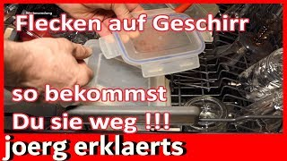 Geschirrspüler reinigen weißen Belag/Flecken entfernen Spülmaschine Tutorial Nr 241
