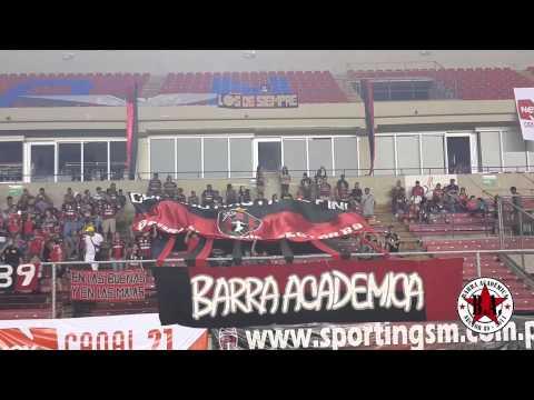 """""""Recibimiento de la Barra Académica al Sporting SM 20.7.2013 (vs Chorrillo)"""" Barra: Barra Academica • Club: Sporting San Miguelito"""