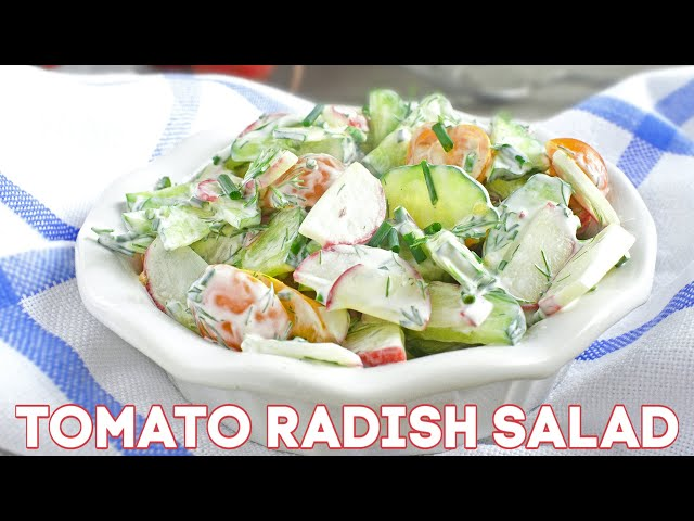 Tomato Cucumber Radish Salad Recipe + Video
