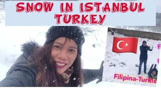 SNOW İN İSTANBUL TURKEY/Filipina&TurkishVlog❤️
