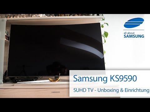 Samsung KS9590 65 Zoll SUHD TV Unboxing und erste Einrichtung 4k