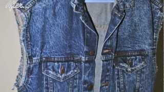 DIY: Turn Your Denim Jacket Into A Denim Vest And Fray It