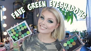 My Favorite Single Green Eyeshadows | Raiding My Collection